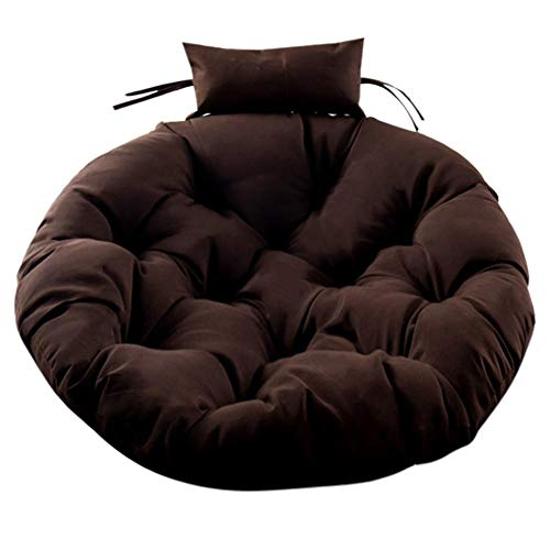 rosemaryrose Cojín de asiento para canasta colgante, cojín grueso para silla de huevo, cojín para silla colgante, suave y agradable al tacto, para balcón interior y exterior (solo cojín, sin silla).