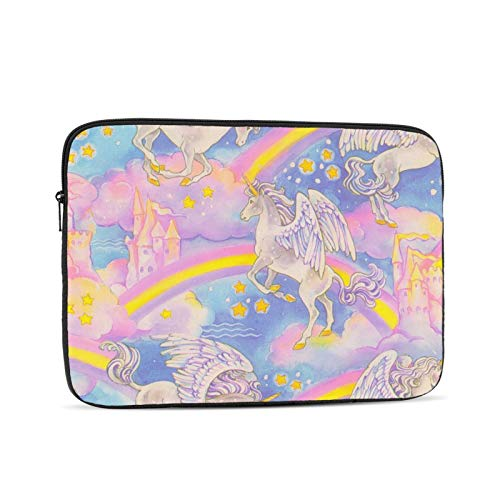 Unicorn Rainbow Laptop Sleeve 10 inch, Shock Resistant Notebook Briefcase, Computer Protective Bag, Tablet Carrying Case for MacBook Pro/MacBook Air/Asus/Dell/Lenovo/Hp/Samsung/Sony