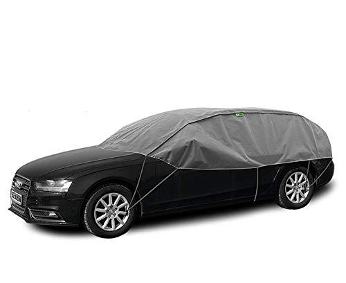 Abdeckplane Halbgarage Sonneschutz, Schneeschutz, UV Schutz, Winter & Sommer Größe L-XL kompatibel mit Opel Astra IV J Kombi