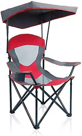 ALPHA CAMP Mesh Canopy Chair Folding Camping Chair Red product image