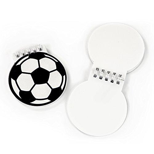 Fussball-Party Notizblöcke 12 Stück Mitgebsel Gastgeschenke Partytüten mit Palandi® Sticker