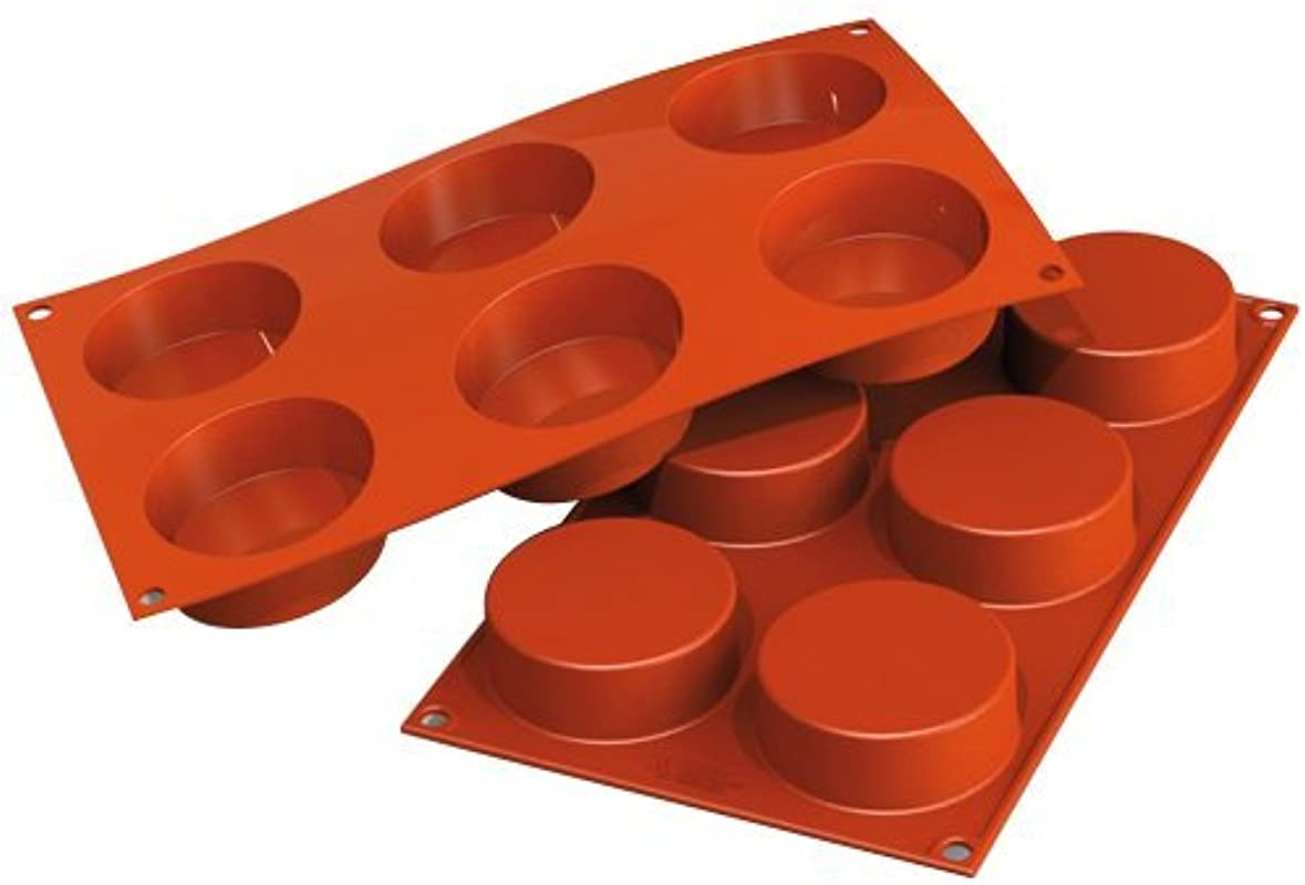 Silikomart Professional Silicone Baking Mold Cylinder 6 Cavities 1 Each
