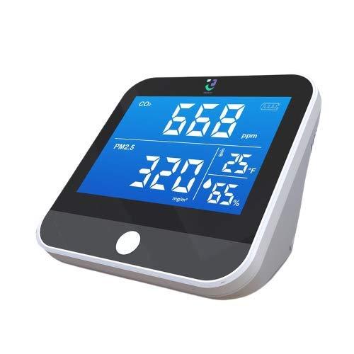 Tackly Medidor de co2 ambiente - detector co2 con medidor calidad de aire interior - higrometro digital medidor de humedad y termómetro digital para casa