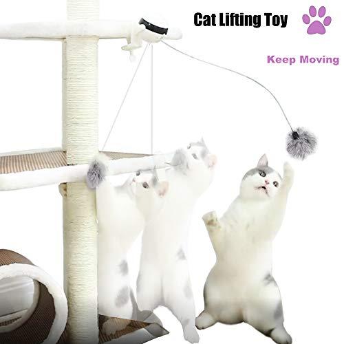 Briller Katzenspielzeug, interaktives Spielzeug, Jo-Jo Ball, automatisches Selbstflattern, rotierendes Spielzeug, lustiges Haustier-Trainingsspielzeug