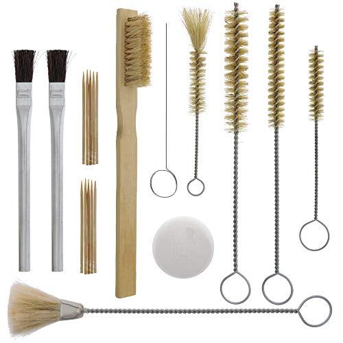 11x Airbrush Spray Cleaning Repair Tool Kit w// Nylon Bristles Needle Brush Set