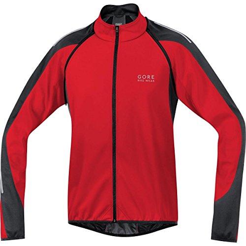 Gore Bike WEAR 3 in 1 Herren Soft Shell Rennrad-Jacke, Jersey und Weste, Gore Windstopper, Phantom 2.0 WS SO Jacket, Größe: L, Rot/Schwarz, JWPHAM