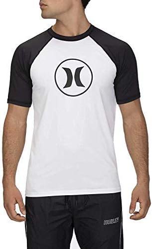 Hurley Men's Short Raglan Sleeve 50+ UPF Sun Protection Rashguard Shirt