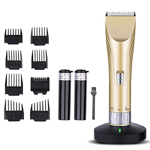 Professional Hair Clippers-Rechargeable Haircut Kit Best for Adults, Men, Kids and Babies Hair Trimmers (Gold)