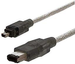 AAA PRODUCTS - Cable FireWire/ILINK/DV/IEEE 1394, funciona con Mac y PC, conector final totalmente moldeado 4 pin - 6 pin