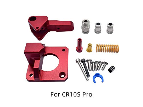KF-3D, Aluminum Upgrade Dual Gear Extruder Kit for CR10S PRO RepRap Prusa i3 1.75mm 3d parts Drive Feed double pulley Extruder (Size : With motor)