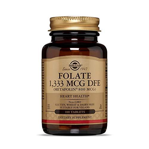 Solgar Folate (Folsäure) Metafolin L-Methylfolat 800mcg 100 Veg.Tabletten