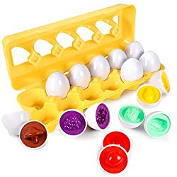 Color Shape Number Matching Egg Set