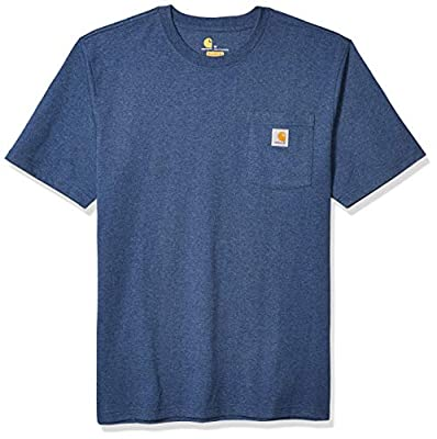 Carhartt Men's Big K87 Workwear Short Sleeve T-Shirt (Regular and Big & Tall Sizes), Dark Cobalt Blue Heather, X-Large/Tall