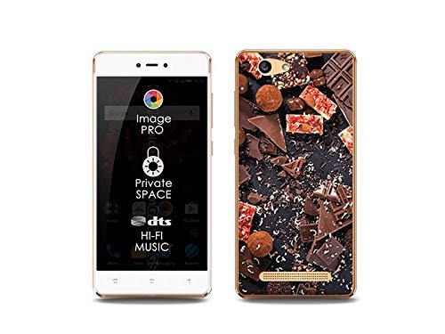 etuo Handyhülle für Allview X3 Soul Lite - Hülle, Silikon, Gummi Schutzhülle Foto Case - Süße Schokolade