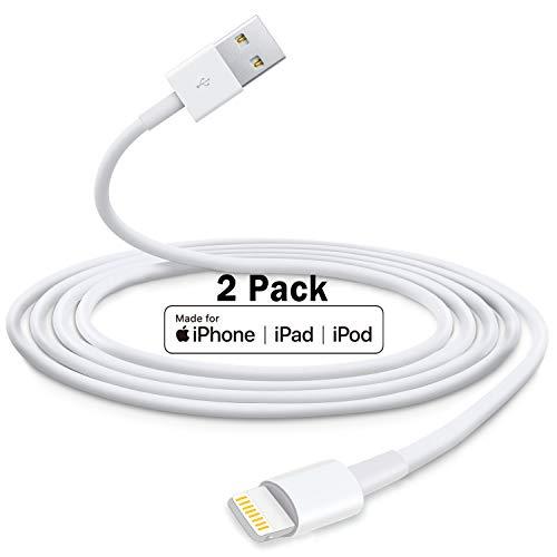 2M 2 Pezzi [Certificato Apple MFi] Cavo iPhone, Originale Apple Cavo Lightning 2 metri Ricarica Veloce Compatibile con Apple iPhone 12 Pro Mini Pro Max/11/11 Pro/11 Pro Max/X/XS/XS Max/XR/8/8 Plus/7