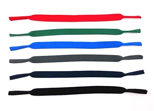 Honbay 6pcs Neoprene Eyeglass Strap Eyewear Retainers Sports Anti-slip Elastic Glasses Sunglass Cord Holder for Adults