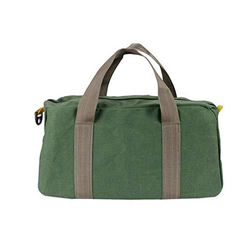 Werkzeugtasche aus Segeltuch,kompakte Tasche für Werkzeuge,Werkzeugtasche Transporttasche Universal mit weiter Reißverschluss Öffnung 40X20X15CM