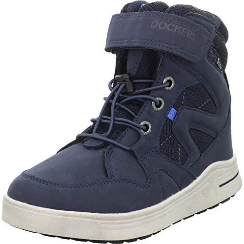 Dockers by Gerli Jungen Unisex Kinder 45RO702 Hohe Sneaker, Blau (Navy 660), 33 EU