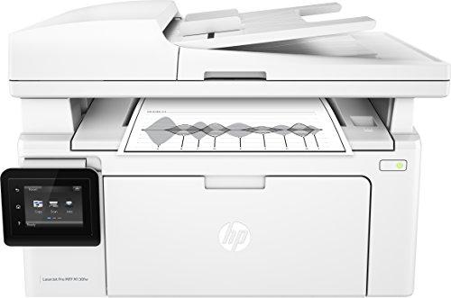 HP LaserJet Pro M130fw Laserdrucker Multifunktionsgerät (Drucker, Scanner, Kopierer, Fax, WLAN, LAN, Airprint) weiß