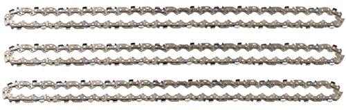 """3 tallox Sägeketten 3/8\"""" 1,3 mm 57 TG 40 cm Schwert kompatibel mit DOLMAR, ECHO, EINHELL, HITACHI und andere"""