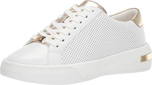Michael Kors Damen Sneakers 43T9CEFS2L Codie Gold Leder Weiß