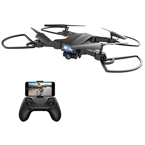 BincaBom Camera Drone FPV WiFi Drone RC Helicopter 3D Flip 120°FOV Live Video 1080P HD One Key Return Function Headless Mode 2.4GHz 4 Channel 6 Axis Gyro Altitude Hold Foldable