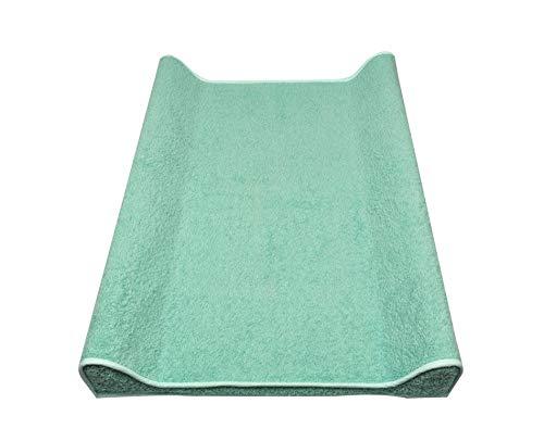 Asmi Kuschel Frotteebezug für Keil Wickelauflagen 50 x 70 cm (Jade)