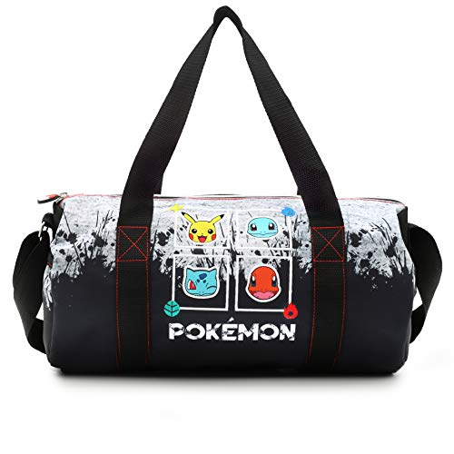 Pokémon sporttas voor jongens | Kinderen Messenger tas met Pikachu, Squirtle, Bulbasaur en Charmander | Lange Crossbody-drager | Kinder reistas | verjaardagscadeau voor jongens