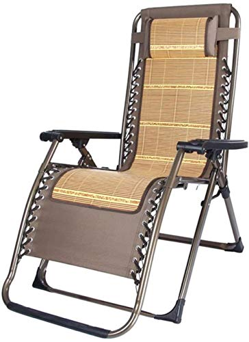 GBLight Sun Lounger Home Bamboo Recliner Chair Breathable Lunch Break Office Lazy Backrest Folding Chair Siesta Individual Casual Chair Beach Chair Bamboo Mat Chair Leisure Backrest Single Bed