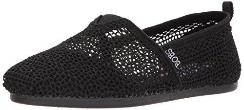 Skechers Damen Crochet Bobs Plush-Daisy, Häkelei, schwarz/schwarz, 36 EU