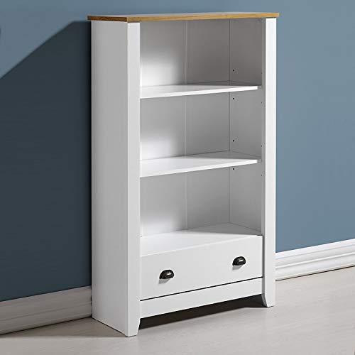 Home Essentials Ludlow Bookcase in White/Oak