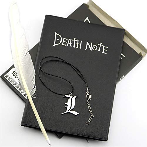 Cuaderno Death Note Con Bolígrafo Y Collar El Cuaderno Con Temas De Anime Se Puede Utilizar Como Diario Y Cuaderno, El Mejor Regalo Para Los Amantes Del Cosplay