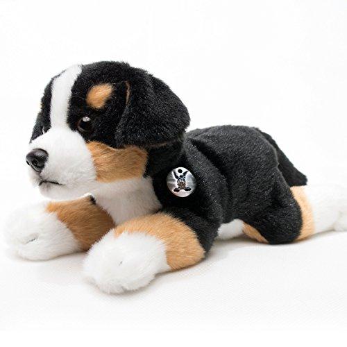 Kuscheltiere.biz Berner Sennenhund Welpe Henry liegend 22 cm Plüschtier