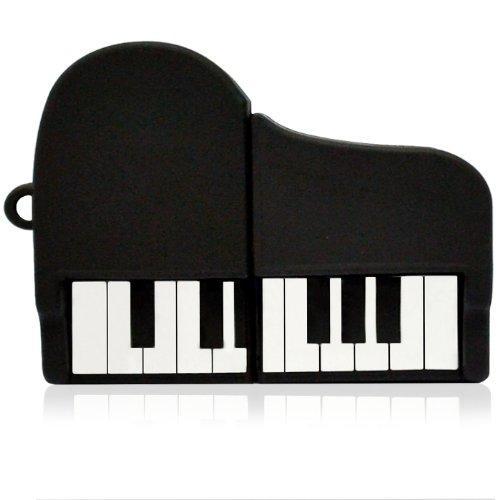 818-Shop No33200030064 Hi-Speed 2.0 USB-Sticks 64GB Klavier Piano Instrument 3D schwarz