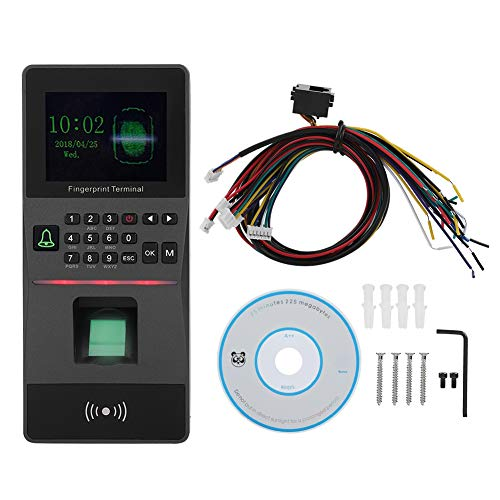 Best Deals! Huakii Fingerprint Attendance Machine, 2.8 TFT Color Screen Fingerprint Password Attend...