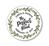 The Perfect Blend Stickers, Greenery Favor Stickers, Tea of Coffee Favor Stickers, Baby Shower or Wedding Favor Stickers F16:7