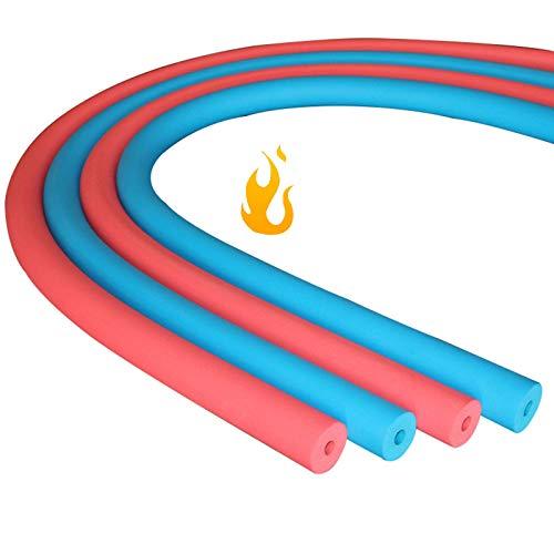 LIUU 1.8m Rohrisolierung,Roter/Blauer Nitrilkautschuk Isolierung Rohr Dämmung,Innendurchmesser 16mm ~ 32mm,Für Kinderwagenarmlehnen, Innen- Und Außenrohre