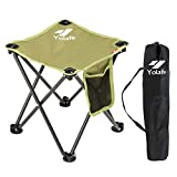 Small Folding Camping Stool Lightweight Chairs Portable Seat for Adults Fishing Hiking Gardening and Beach with Carry Bag, Green