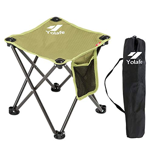 Small Folding Camping Stool Lightweight Chairs Portable Seat for Adults Fishing Hiking Gardening and Beach with Carry Bag, Gray