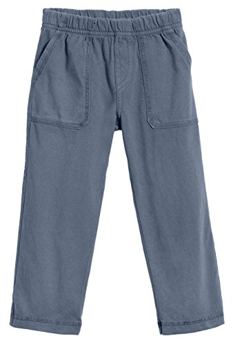 City Threads Big Boys' and Girls' Soft Jersey Tonal Stitch Pant Perfect for Sensitive Skin SPD Sensory Friendly Clothing - Concrete, 10