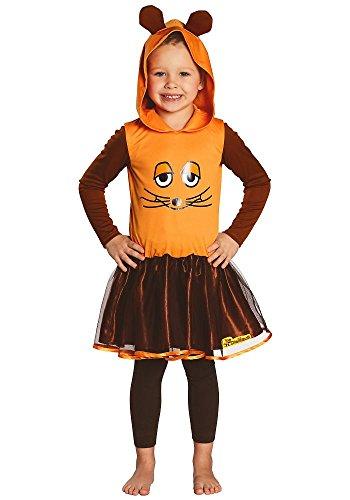 Kostüm Maus Kinder Mädchen Kleid orange