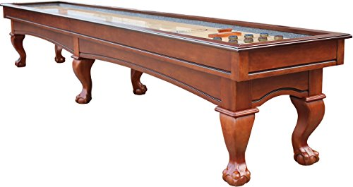 Why Choose Playcraft Charles River 16' Chestnut Pro-Style Shuffleboard Table