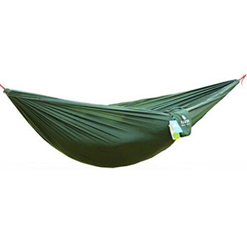 Multifonction Camping Hamac à suspendre Lit Double Taille [2.6 * * * * * * * * 1.3 m] Vert