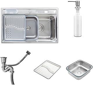 HomeLava Küchenspülen Küche Spüle Spülbecken Waschbecken 1 Becken Küchenspülen Einbauspüle mit Ablaufgarnitur 78 x 48 x 21 cm