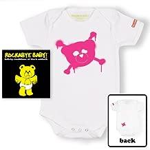 Rockabye Baby! Black Sabbath + Organic Baby Bodysuit (White/Pink)