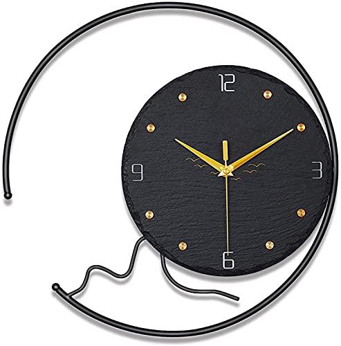 WSDDNXM Reloj de Pared Silencioso Sin tictac Cuarzo Funciona con Pilas Estilo Europeo Reloj de Personalidad Creativa Redondo Hogar/Oficina/Aula/Escuela Reloj Decorativo para el hogar
