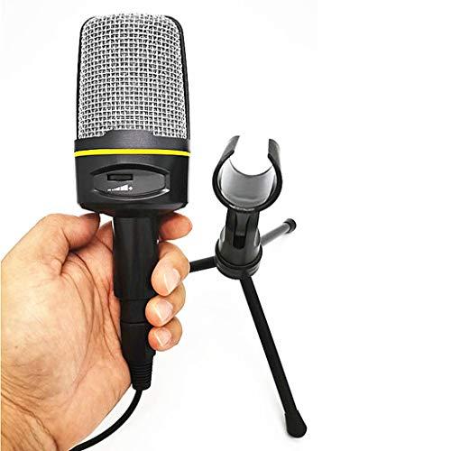 FKSDHDG Micrófono de Escritorio con Cable Ordenador portátil Trípode Ajustable Micrófono Chat en línea Transmisión en Vivo Mic