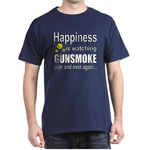CafePress Gunsmoke 100% Cotton T-Shirt Navy