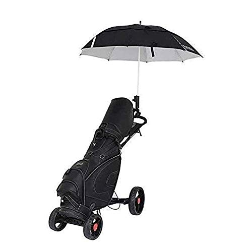 Carrito de golf junior Carrito de golf de empuje y tracción de 4 ruedas Carrito de golf ligero plegable con freno de mano, soporte para paraguas, soporte para bebidas, rueda suave, panel multifun