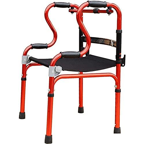 FHISD Andador con Andador Vertical Plegable aleación de Aluminio, Ayuda para Caminar, muletas para discapacitados, Equipo Auxiliar para Ancianos Ligero